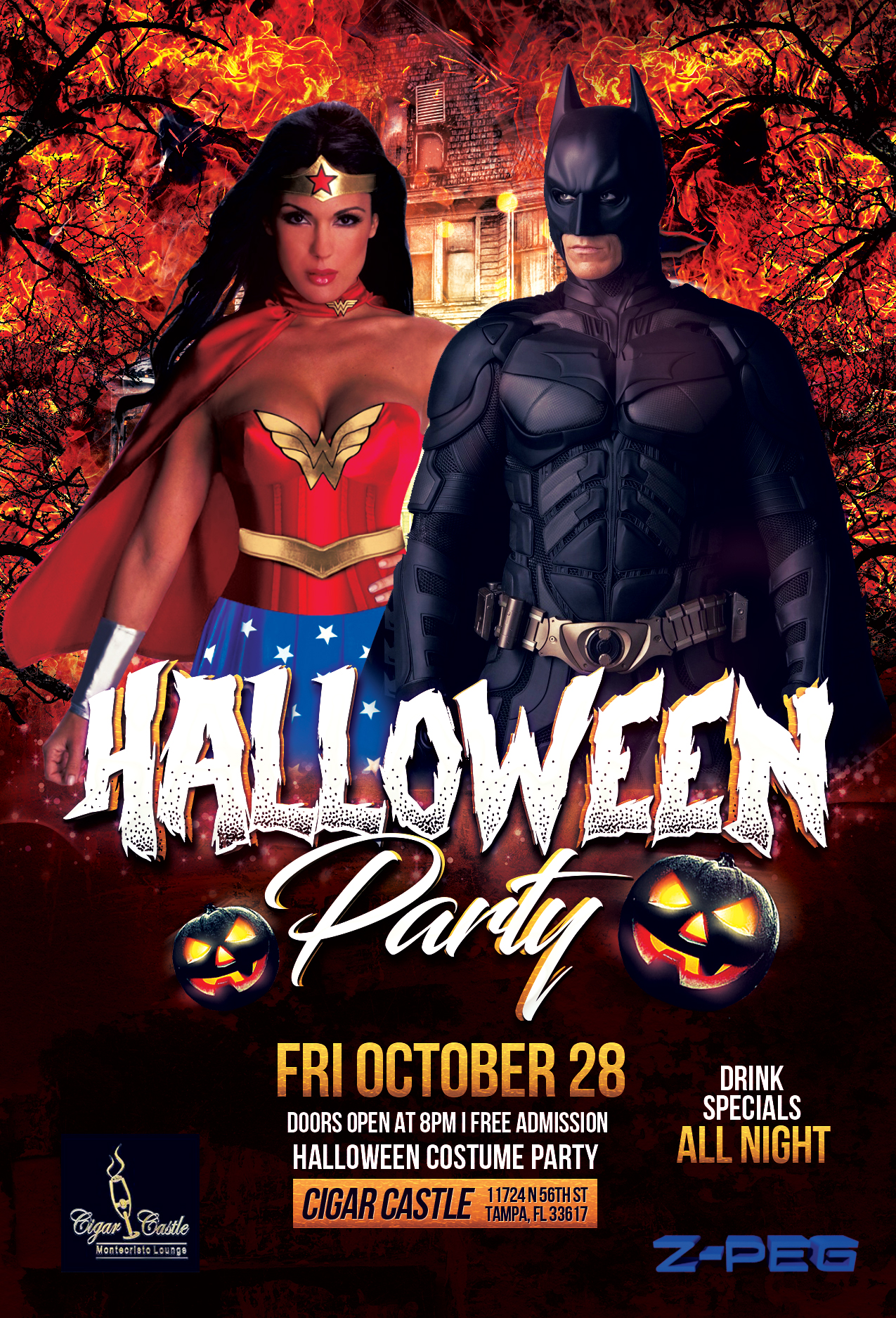 Cigar Castle Halloween Party Flyer |